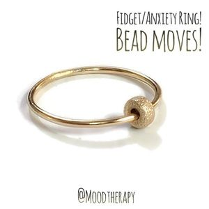 Fidget/Anxiety Ring - Gold Beaded Band
